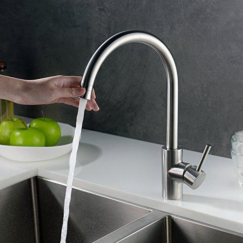 Homelody Wasserhahn Küche mit Brause Küchenarmatur 360° schwenkbar/drehbar Auslauf Spültischarmatur Spülbecken Spültisch Armatur Mischbatterie für Küche - 7