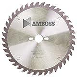 Amboss - HM Tischkreissägeblatt für Holz - Ø 254 mm x 2,8 mm x 30 mm | Geeignet für Bosch GTS 10 oder Metabo TS254 | Wechselzahn (60 Zähne)