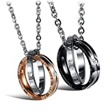Best Couple Necklaces - OPK Jewellry 2pcs His & Her Stainless Steel Review