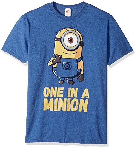 Despicable Me Herren T-Shirt Minions Stuart One in A Million - Blau - X-Groß (A One Minion Shirt In)