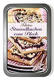 Kleine Streuselkuchen vom Blech-Set: Buch und passende Backform