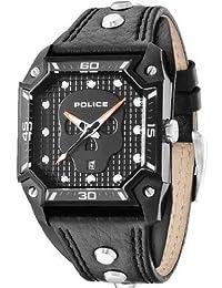 Police PL.13888JSB/02 - Reloj de pulsera hombre, piel, color negro