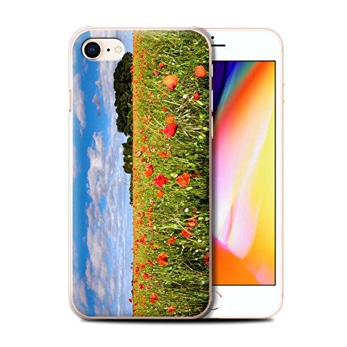 Stuff4 Hülle / Case für Apple iPhone 8 / Sonnenblume Muster / Britisch Landschaft Kollektion Feld