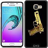 Coque Silicone pour Samsung Galaxy A5 2016 (SM-A510) - Pistolet D'or by les caprices de filles