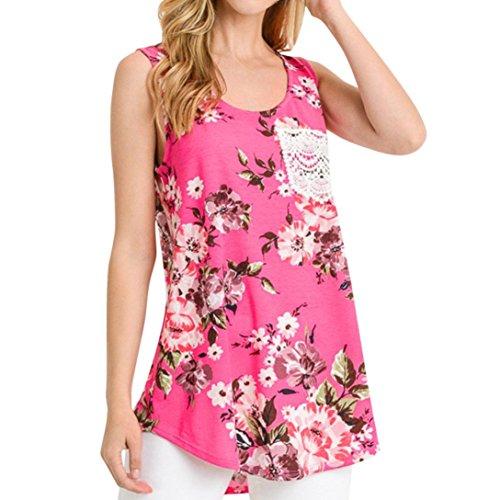 Sommer Kleider Xinan Damen Ärmellos Chiffon Sommerkleid Minikleid Strandkleid Partykleid Rundhals...