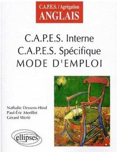 CAPES interne, CAPES spécifique : Mode d'emploi