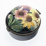 """Old Tupton Ware Art Deco Round Trinket Box, """"Summer Bouquet"""" Design"""