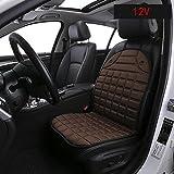 MIAO Autositz Heizkissen, Auto 12V 50W (HI) / 30W (LO) Elektrische Heizung Sicherheit Sitzkissen (99cm * 48cm) , brown