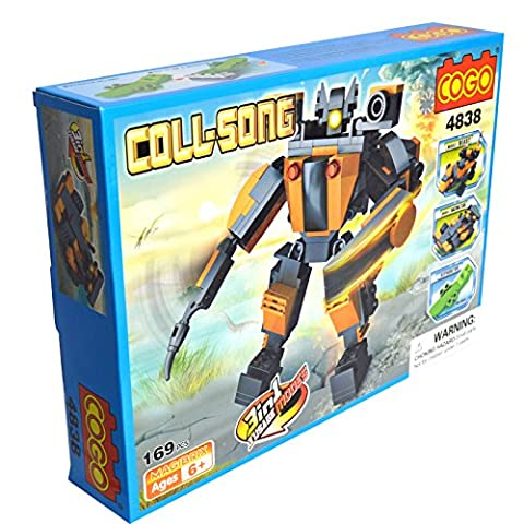 Cogo 3 in 1 kit – Beast/Rennwagen/Armee Roboter Solider Educational Multi Bausteine Konstruktion Baustein-Set