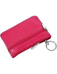 4e033baff4 iSuperb Portamonete Blocco RFID Astuccio Portachiavi in Pelle Borsellino  Piccolo Coin Purse per Donna e Uomo
