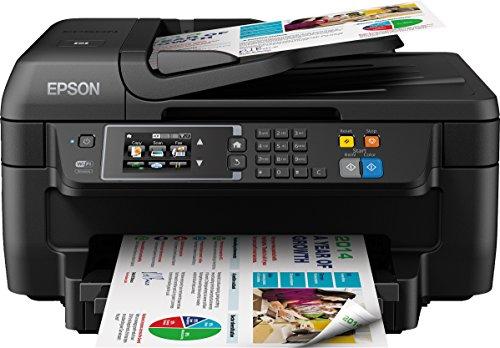 Epson WorkForce WF-2660DWF 4-in-1 Multifunktionsdrucker (Drucken, scannen, kopieren, faxen, Duplex, WiFi, Dokumenteneinzug) schwarz