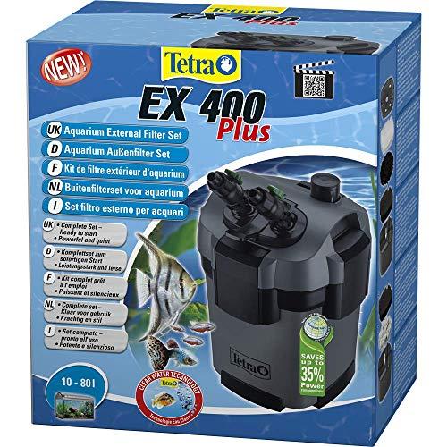 Tetra Aquarien Außenfilter EX 400 Plus (leistungstarker Filter für Aquarien von 10-80 L, Komplettset mit Ansaughilfe zum Schnellstart und Filtermedien) -