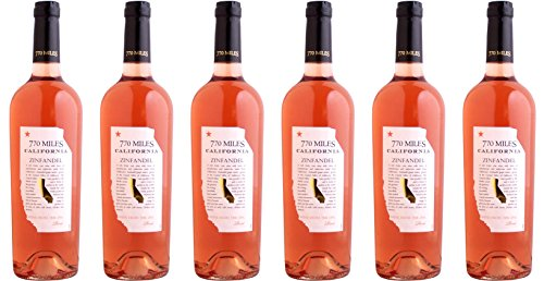 Zinfandel Wein (770 Miles Zinfandel Rosé aus Kalifornien 2016 (6 x 0.75 l))