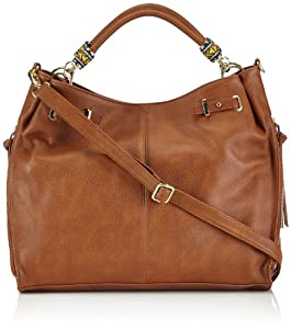 Steve Madden BEMPRESS 03110063 - Bolsa al hombro para mujer, color marrón, talla 41x10x28 cm de Steve Madden