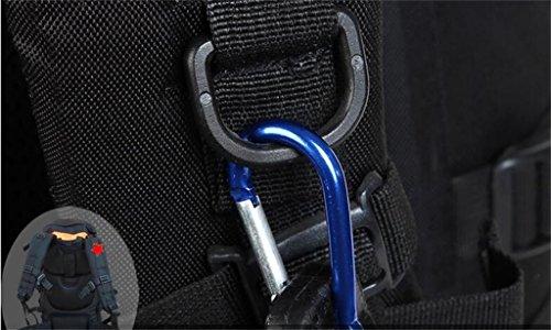 zaino trekking borse alpinismo esterno 60L zaino da viaggio escursionismo Lesbico sacchetto di grande capacità Zaini da escursionismo ( Colore : Royal Blue , dimensioni : 60l ) Nero