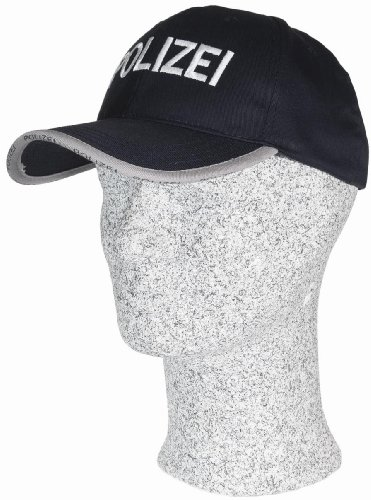Baseball Cap schwarz mit Stick POLIZEI in weiß