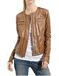Women Leather Jacket Biker Leather Jacket For By PelleCollection
