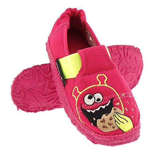 GALLUX - Hausschuhe Slipper Mädchen Jungen Pantoffeln Pink