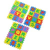 Deanyi Colorful Puzzle Kid Educational Toy A-Z Alphabet Letters Numeral Foam Mat
