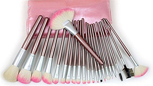 RoseFlower® Professionnel 22 Pcs Pinceaux Maquillage Trousse - Pro Make Up Cosmétique Brosse / Brushes Kit Pour Visage Blending Fondation Blush Eyeliner Poudre