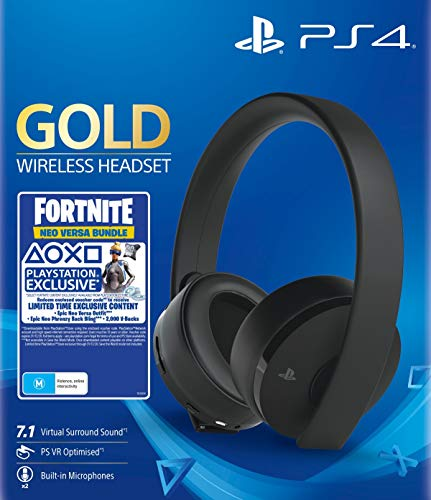 Casque Gaming sans fils 7.1 Gold Black - Fortnite Neo Versa Bundle