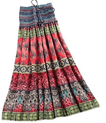 hengsong-7-colours-retro-women-bohemia-style-floral-pleated-long-beach-maxi-skirt-beach-dress-sundre