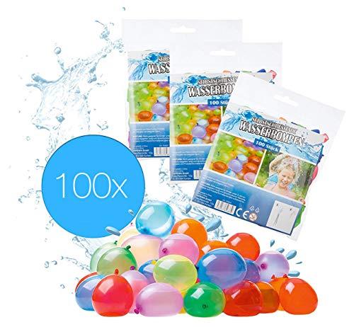 TK Gruppe Timo Klingler 100x Wasserbomben Wasserballons Luftballons Set selbstschliessend Wasserspielzeug Schnellfüller