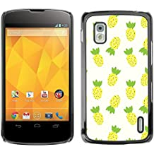 STPlus Piña Frutas Carcasa Funda Rigida Para LG Nexus 4