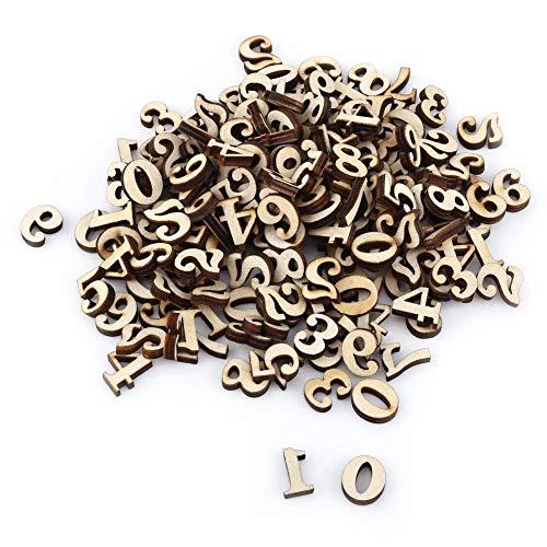 Fdit Alphabet aus Holz, gemischt, A-Z, Buchstaben, 0-9 Zahlen, Nicht gemalt, Basteln, Kinder-Dekoration, Lernspielzeug, Spiele, 200 Stück Chiffres N ° 2 (Holz-buchstaben Zahlen)