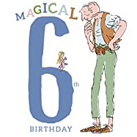 Roald Dahl The BFG Age 6 Birthday Card