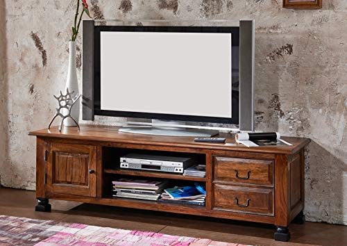 MASSIVMOEBEL24.DE Kolonialart Sheesham Massivmöbel lackiert TV-Board Palisander vollmassiv Möbel massiv Holz New Boston #207