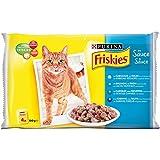 Friskies Chat Repas pour chat adulte Poissons & Légumes en sauce 4 x 100 g - Lot de 10 (40...