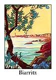 biarritz reproduction affiche poster-format size 50X70 cm-papier luxe 300 g-tous formats possibles nous consulter-vente du fichier numérique HD possible nous consulter.(boutique affichevintage sur le web)