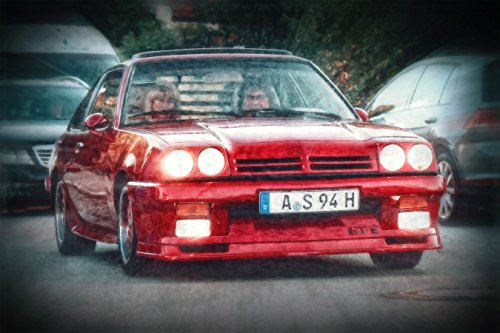 Kunst Druck Opel Manta B i200, Rochen Tapete Mousepad Acrylglas Alu-Dibond (30 x 20 cm, Alu-Dibond gebürstet)