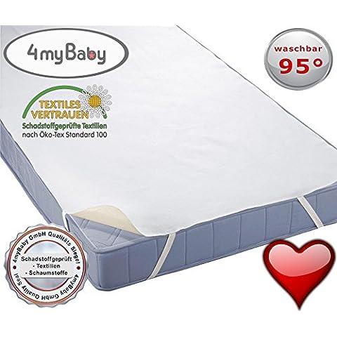 4myBaby técnica especiales Protector de colchón impermeable Protector impermeable Colchón Alfombrilla de rizo 60x 120cm hasta 220x 200cm–12tamaños, 70 x 160