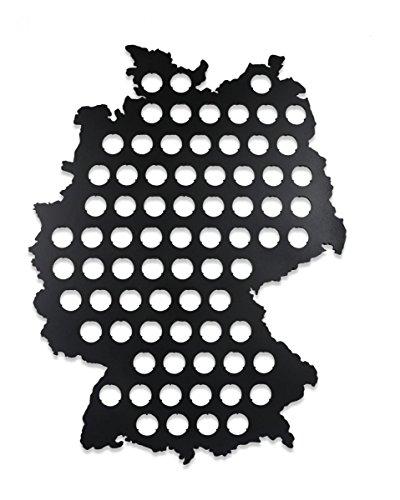 Premium Bierkarte Deutschland XL Schwarz - Geschenk für Männer Lustige Geschenkidee für Bierfreunde & Bier Geschenke - Platz für 75 Kronkorken - 60 x 46 cm