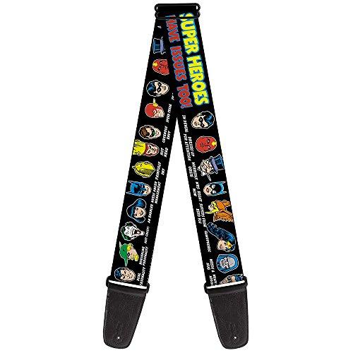 buckle-down, DC-Superhelden-Have Issues Too,/in schwarz, 2cm breit, 50-54cm