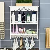 Bathroom Shelves Bathroom Bathroom Drain-Free Toilets Toilet Wash Basin Wall-mounted Cosmetic Storage Box Storage Rack Cosmetic Organizer