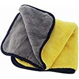 Auto Hub Heavy Microfiber Cloth for Car Cleaning and Detailing, Dual Sided, Extra Thick Plush Microfiber Towel Lint-Free, 800 GSM, 40cm x 40cm