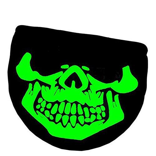 Eizur Leuchtend Mund Gesicht Maske Mundmaske Unisex Baumwolle Schädel Skelett Anti-Staub Warm Kreativ Mundschutz Maske Gesichtsmaske Schwarz--Stil 5