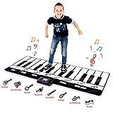 VCtyui Klavierspielmatte - Bodentastatur mit Wiedergabe-, Aufnahme-, Wiedergabe- und Demo-Modi - 8 Verschiedene Musikinstrumente - Klangoptionen - 70-Zoll-Spielmatte - 24 Tasten