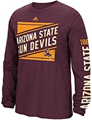 "Arizona State Sun Devils Adidas NCAA ""Raised Varsity"" Men's Long Sleeve T-shirt"