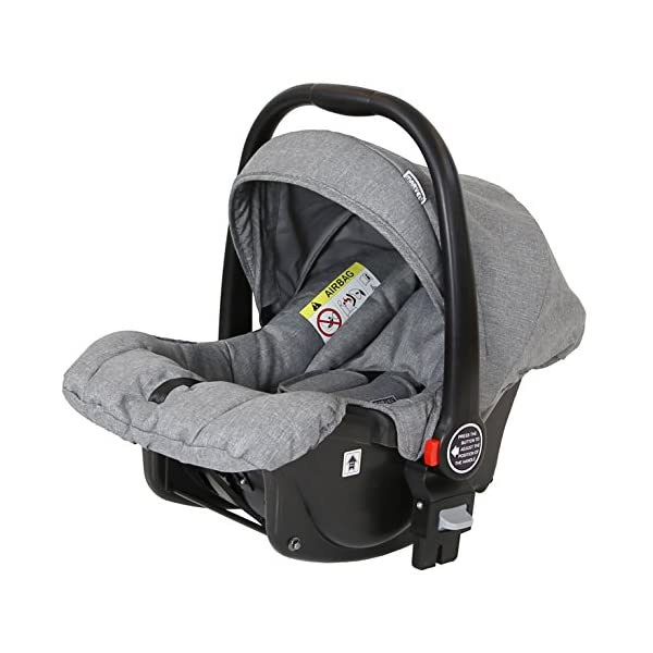 Marvel 2in1 Pram - Dove Grey (+ x2 Footmuff + x1 Car Seat Raincover) iSafe Includes Free Carseat Raincover + Carseat Footmuff + Stroller Footmuff Complete With Free Raincover For Seat Unit Complete With Free Boot Cover 7