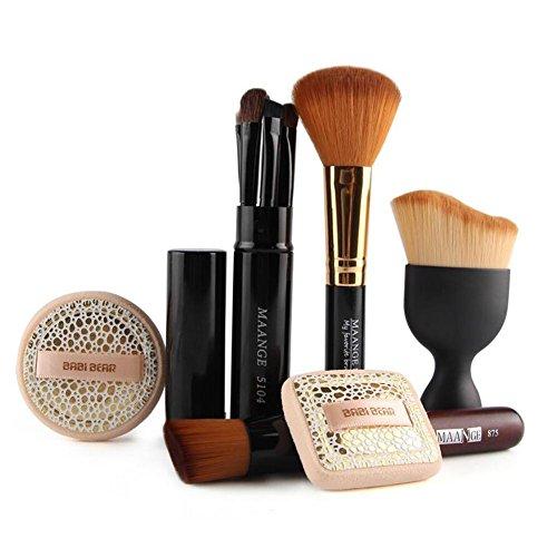 SMX&xh 10Pcs Pinceau De Maquillage Ensemble Fard à Joues Fard à PaupièRes Ombre Outils De Beauté