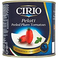 Cirio Pelati peladas Tomates de ciruelo 2500g (Pack de 6 x 2,5 kg)