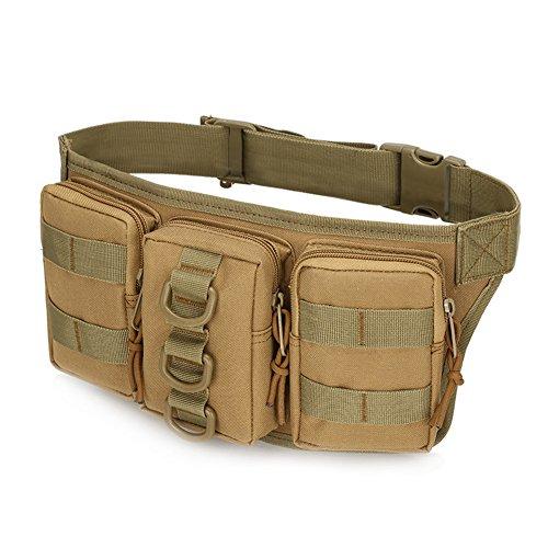Tactical Hüfttasche Bauchtasche Militär Gürteltasche mit 5 Mehrere Fächer inkl. Reißverschluss für Outdoor Sport Trekking Wandern Running(Typ 3),2L