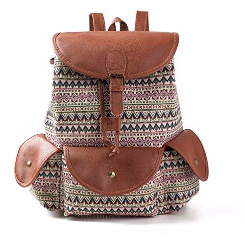 BZLine® Frauen ethnischen drucken Tunnelzug Rucksack Shopping Bag Rucksack, 39cm×32cm×15cm B