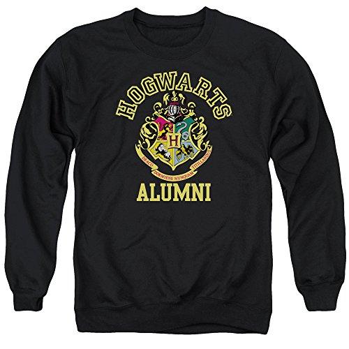 Trevco Harry Potter Hogwarts Alumni Sweatshirt für Herren, Schwarz - Schwarz - Klein