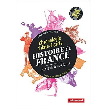 Histoire de France d'Alésia à nos jours : Chronologie 1 date - 1 carte