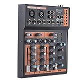 Best ammoon Karaoke Mixer - ammoon Interfaccia 48V Phantom Power Portatile a 4 Review